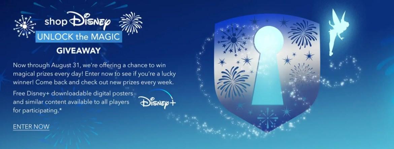 Enter the ShopDisney unlock the Magic Giveaway