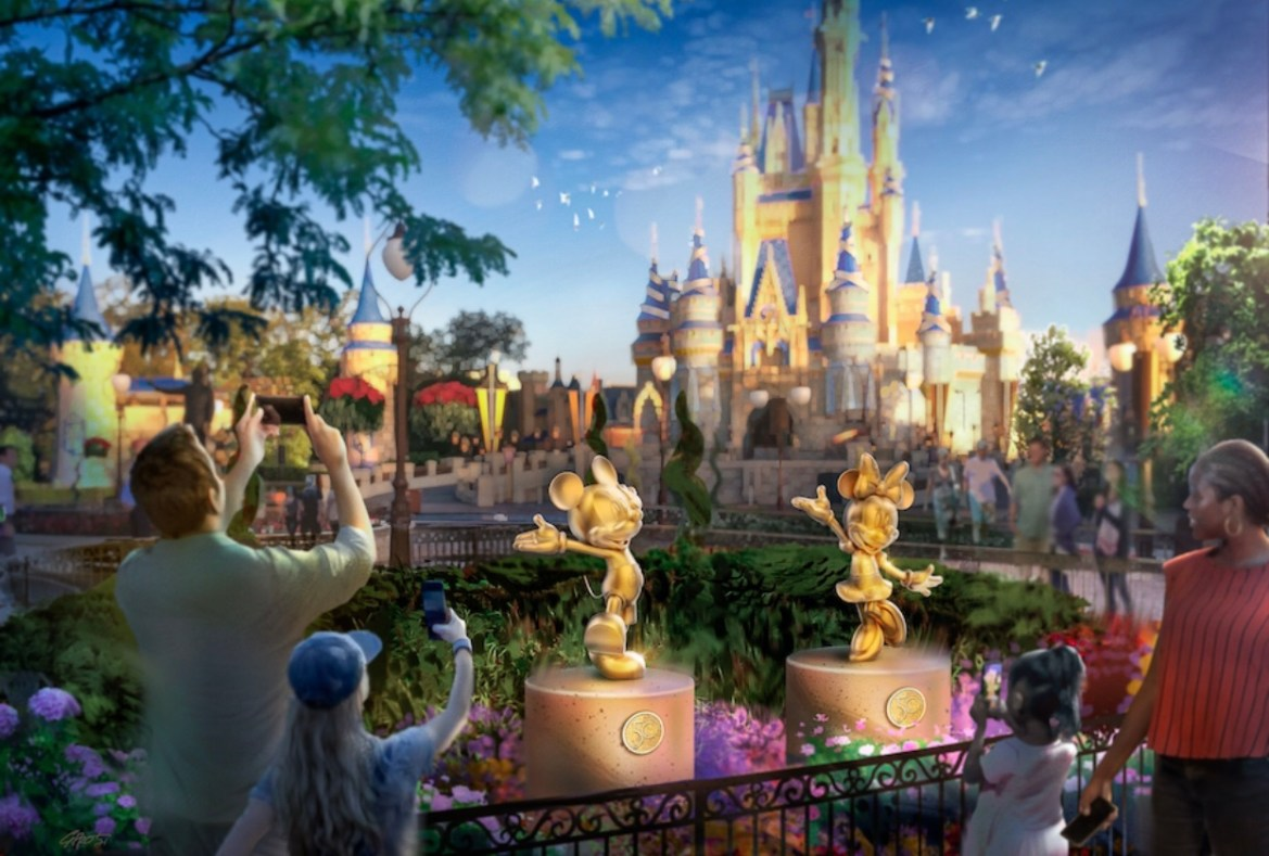 Behind the scenes look at the Disney Fab 50 statues