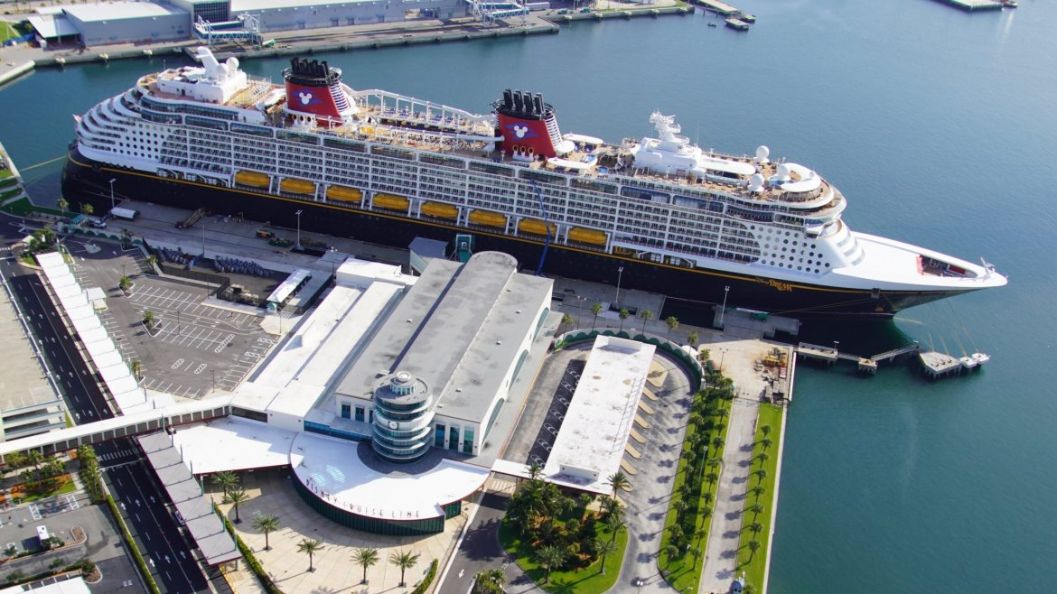 The Disney Dream prepares for cruising to return at Port Canaveral
