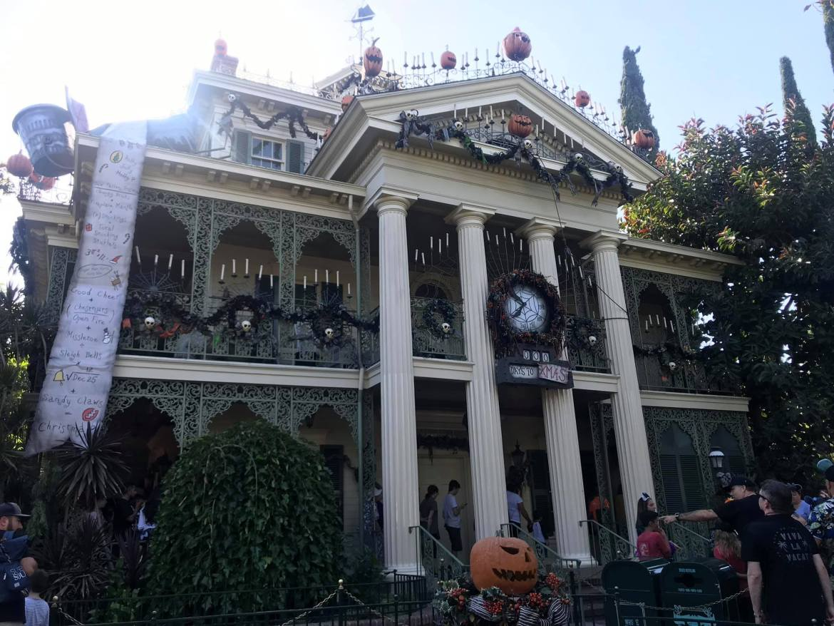Haunted Mansion closed for Holiday Overlay Addition