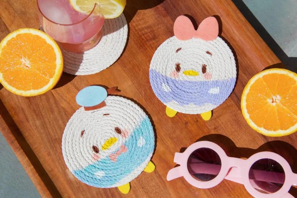 Adorable DIY Donald And Daisy Coasters!