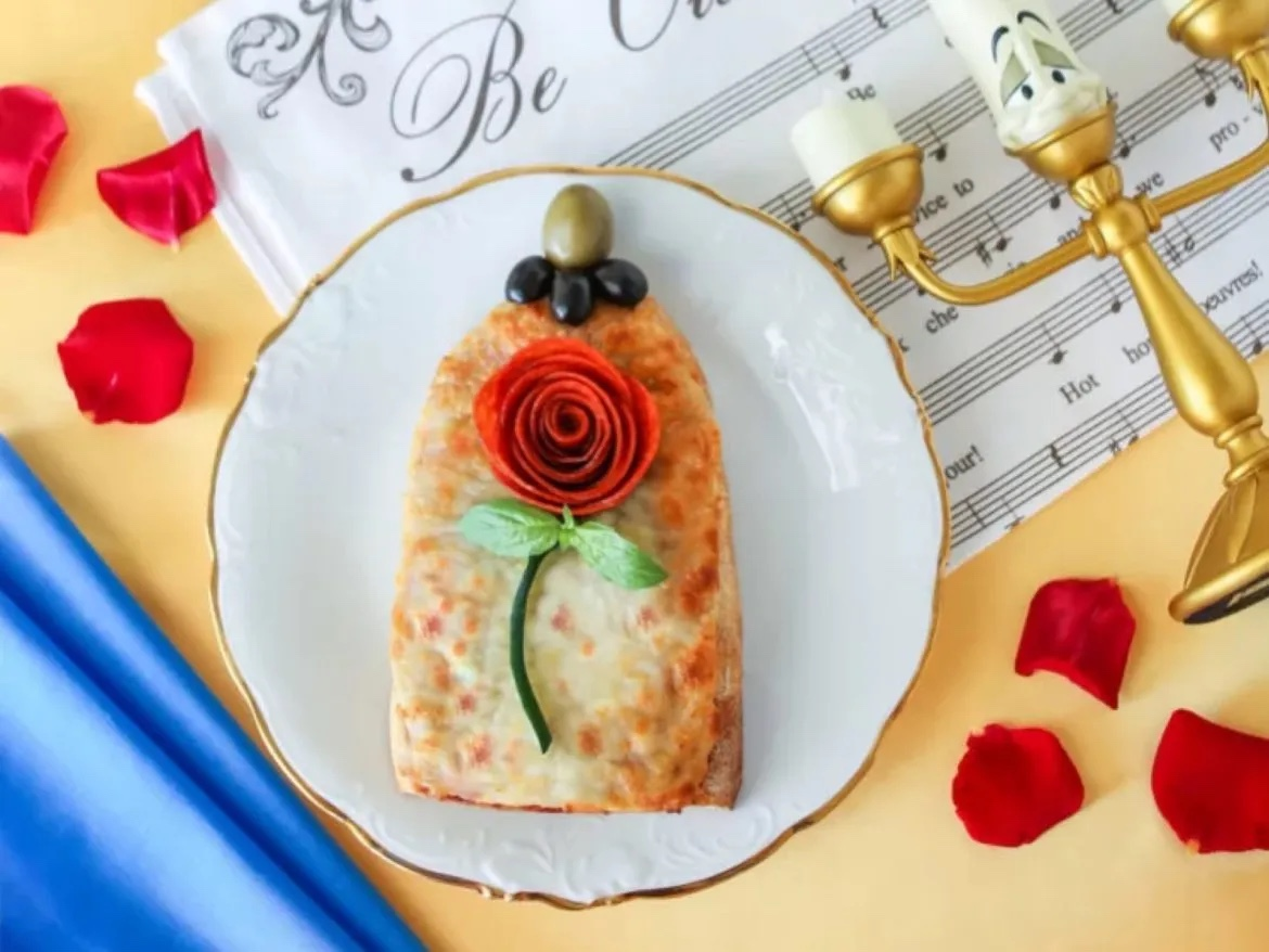 Be Our Guest And Enjoy This Delicious Enchanted Rose Pizza!