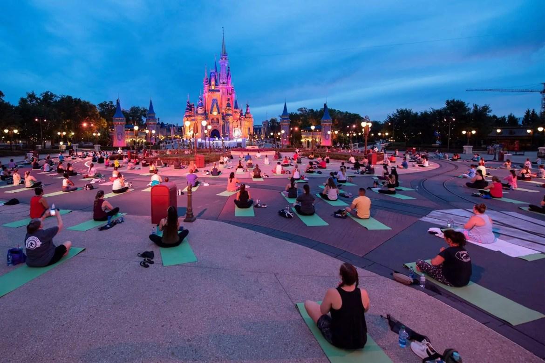 Magic Kingdom Hosting Disney Princess Sunrise Yoga