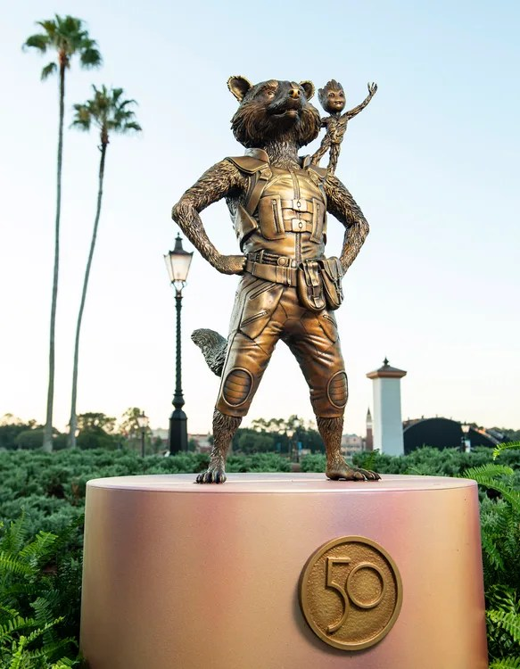 New Disney Fab 50 Statues debut in Epcot 7