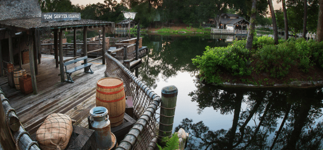 Tom Sawyer Island was evacuated yesterday due to a suspicious person 1