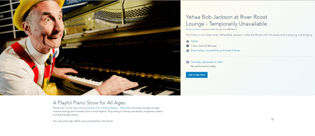 Yehaa Bob Jackson returning to Disney's Port Orleans Resort! 2