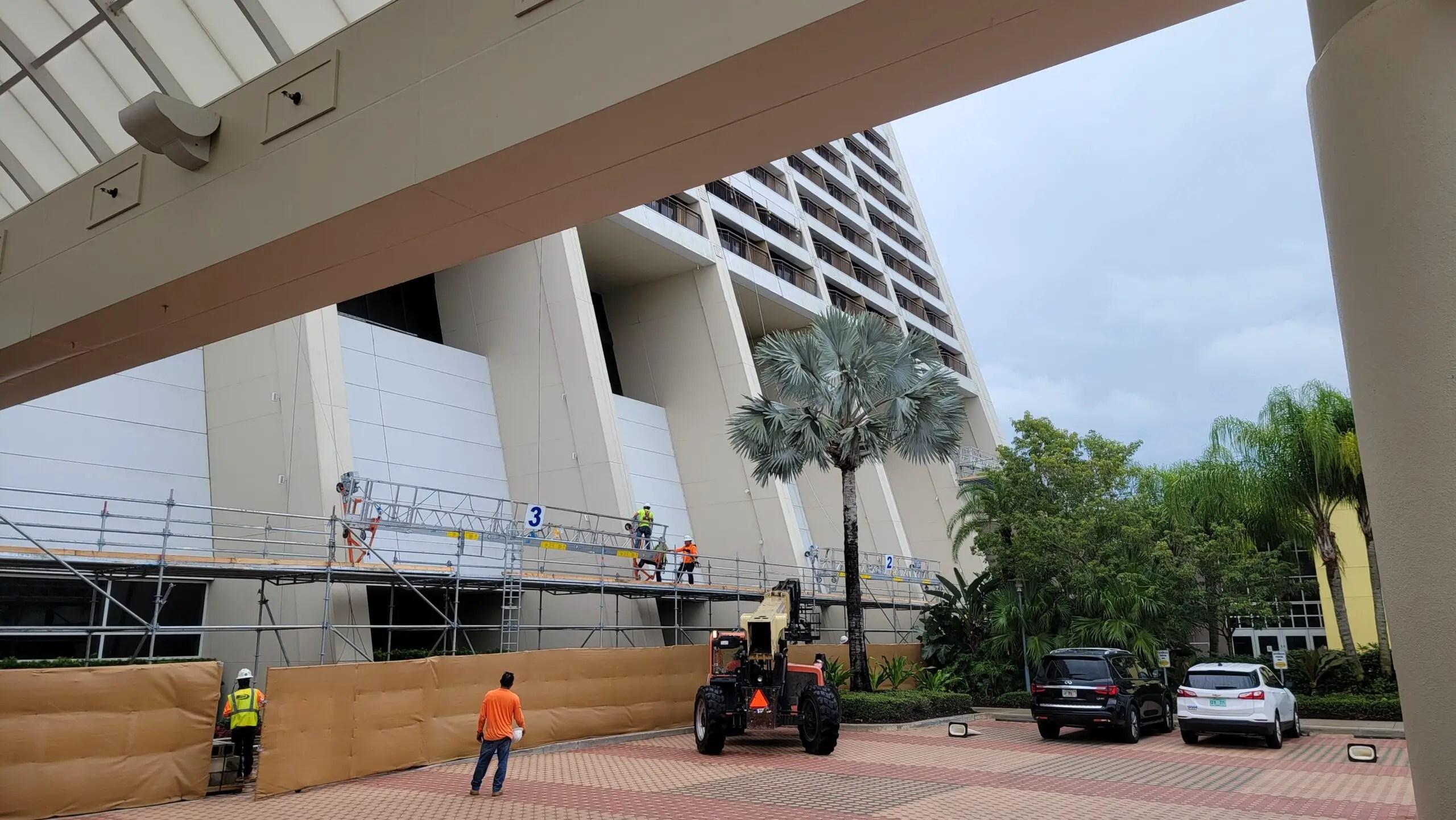 Disney's Contemporary Resort Construction progress 2