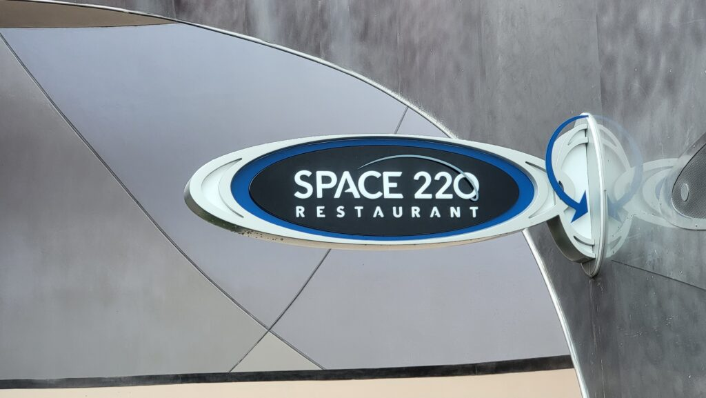 New Signage installed for Space 220 Restaurant in Epcot 2