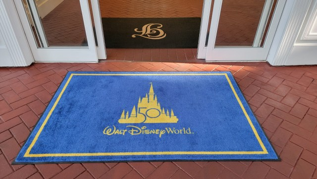 Disney World 50th Anniversary Welcome Mats appearing at the Grand Floridian 1