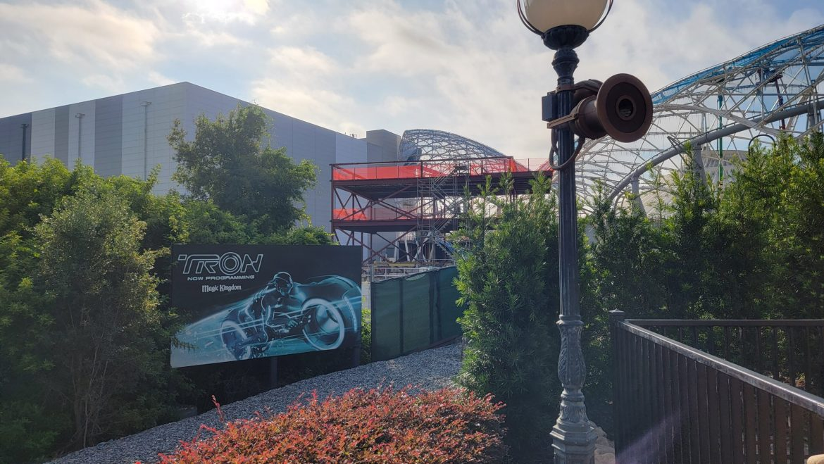 New building being erected at Tron Lightcycle Run