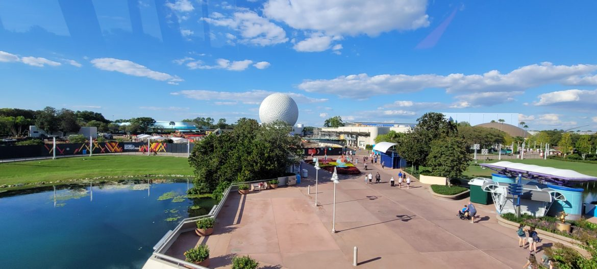 New Aerial look at the Construction around Epcot