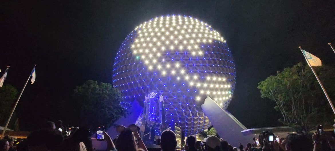 """Epcot's """"Beacon of Magic"""" Lights up the Disney Skyline in its Debut"""