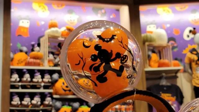 Hauntingly Cute Light-up Mickey Balloon Halloween Ears 4
