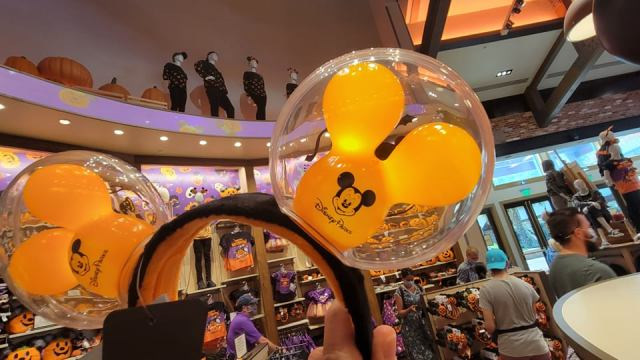 Hauntingly Cute Light-up Mickey Balloon Halloween Ears 2