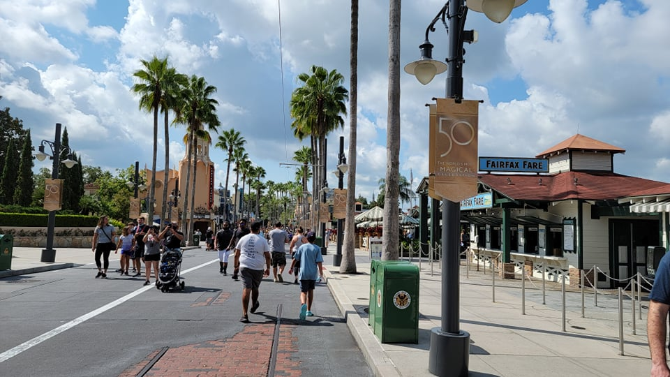 Disney World 50th Anniversary Banners Now Up at Hollywood Studios 3