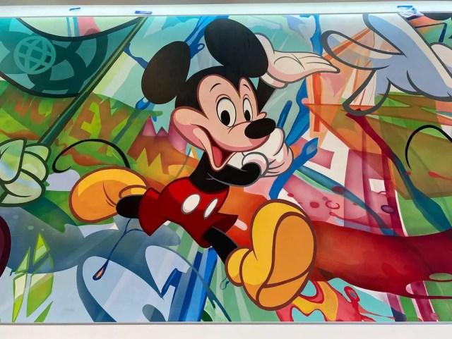 New Mickey Mural sneak peek