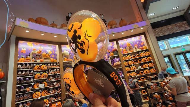 Hauntingly Cute Light-up Mickey Balloon Halloween Ears 3