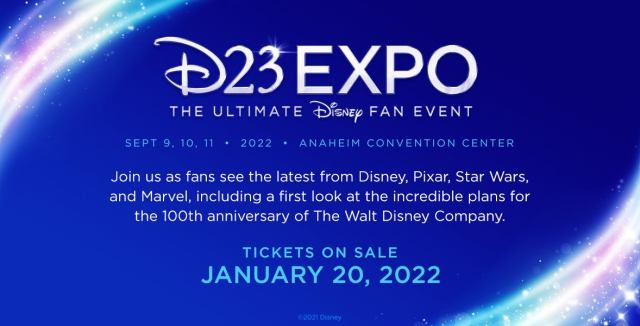 Tickets to D23 Expo 2022 go on sale on January 20, 2022! 1