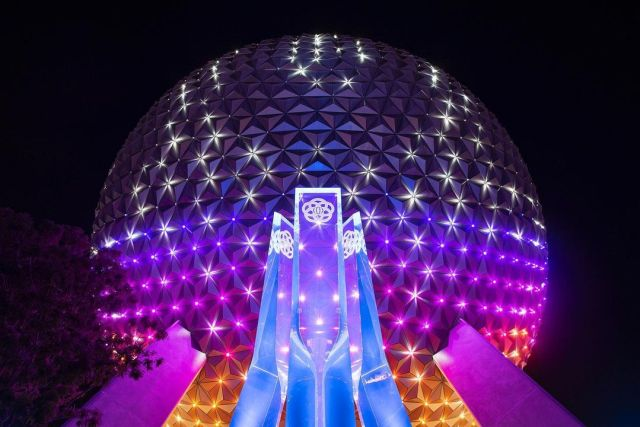 First look at new Spaceship Earth 'Beacons of Magic' Lighting in Epcot 1