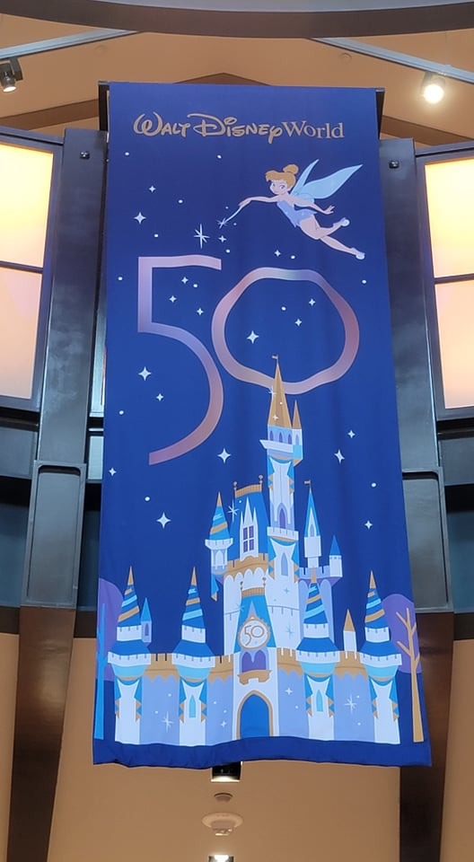 50th Anniversary Banners added to World of Disney Store in Disney Springs 5