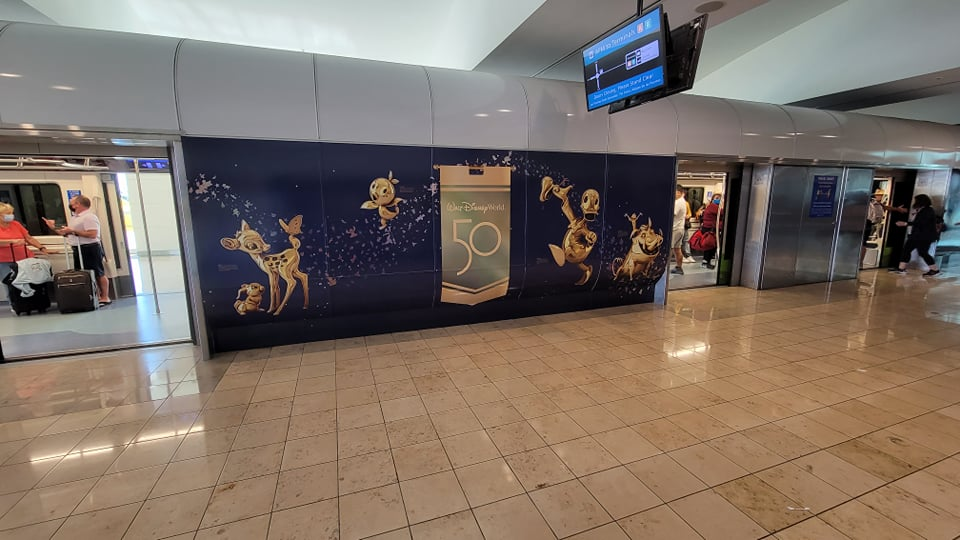 Disney World 50th Anniversary decorations are now at the Orlando Airport 8