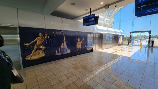 Disney World 50th Anniversary decorations are now at the Orlando Airport 2