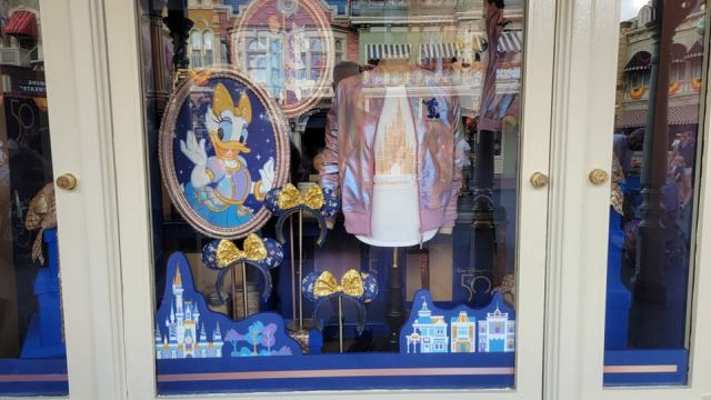 Disney World 50th Anniversary Window Displays Now at the Magic Kingdom 6