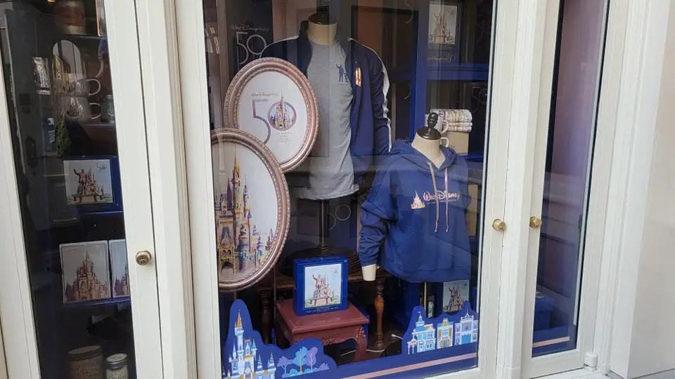 Disney World 50th Anniversary Window Displays Now at the Magic Kingdom 4