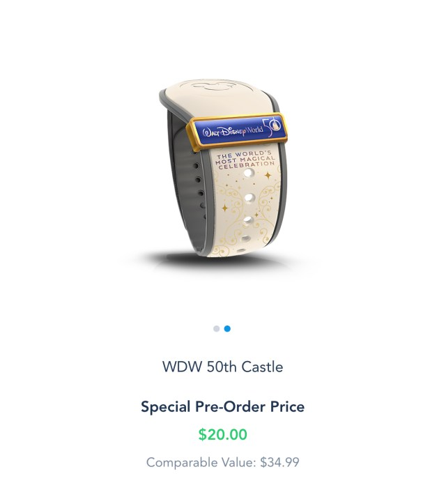 Special 50th Anniversay Magic Band now available for Resort Guests and Annual Passholders 3