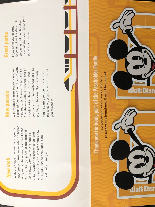 New Disney World Annual Passholder Magnets are being mailed out now 4