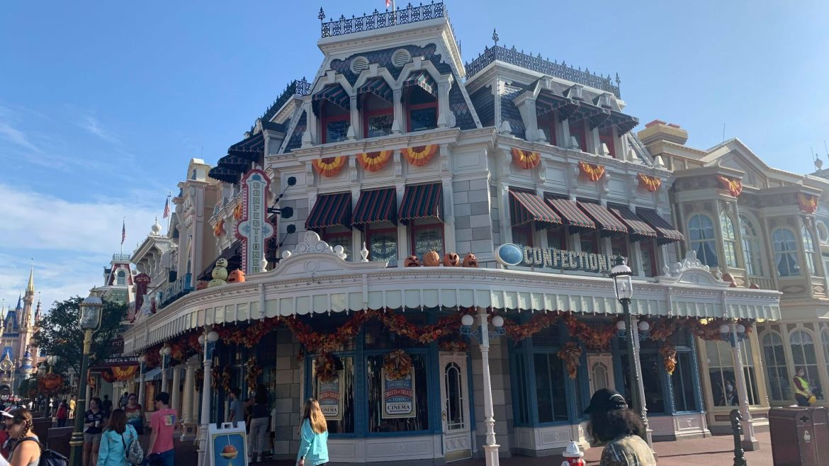 Walls Are Down Around Main Street Confectionery in the Magic Kingdom