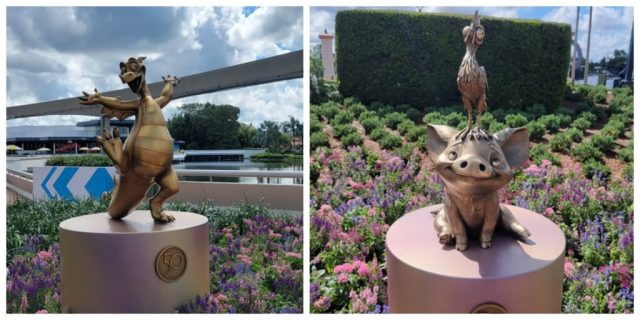 New Disney Fab 50 Statues debut in Epcot 1