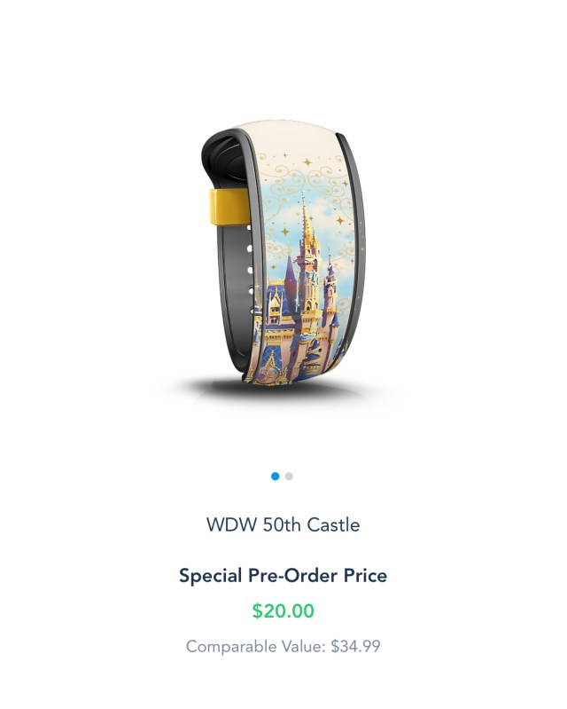Special 50th Anniversay Magic Band now available for Resort Guests and Annual Passholders 2