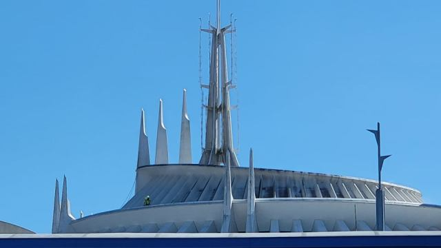 Space Mountain Exterior Being Cleaned for the 50th Anniversary 3