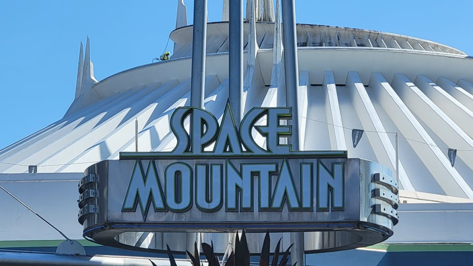 Space Mountain Exterior Being Cleaned for the 50th Anniversary