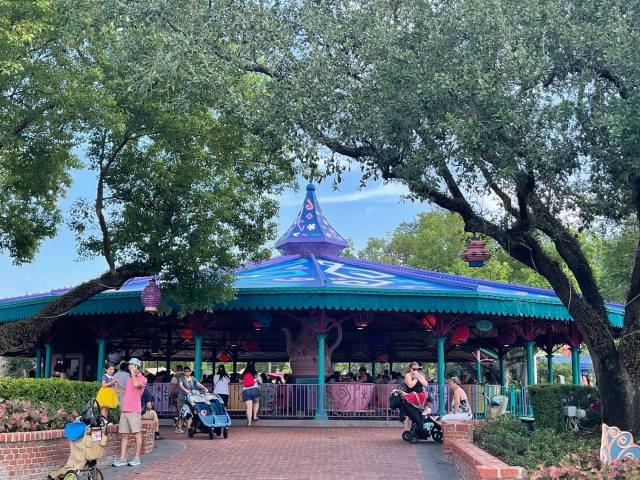 Painting Continues on Mad Tea Party for Walt Disney World's 50th 1