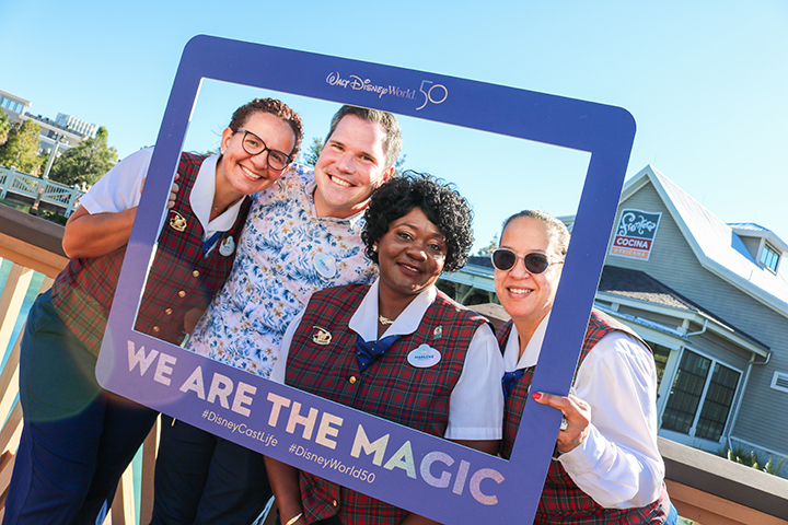 Disney World Cast Members receive new 50th Anniversary Name Badges 10