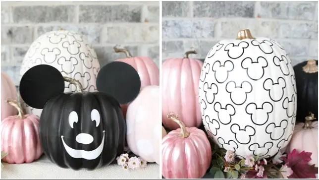 DIY No Carve Mickey Pumpkin To Make This Halloween!