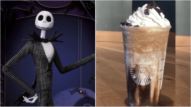 Spooky Jack Skellington Frappuccino To Order At Starbucks!