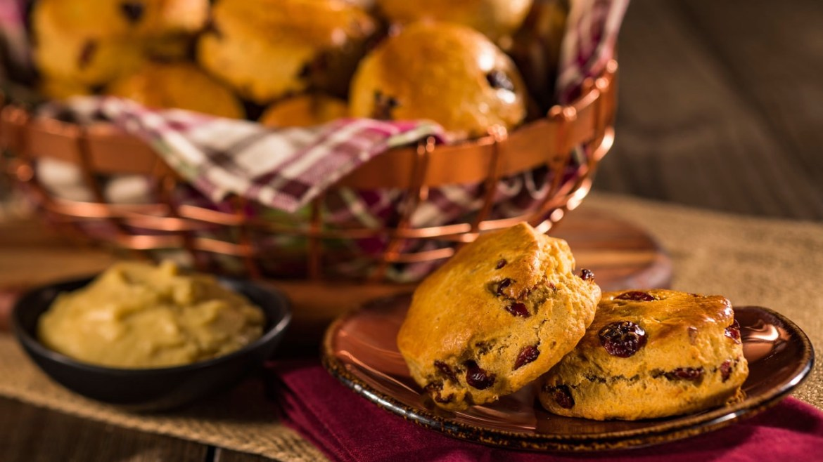 Pumpkin Cranberry Scones From Disney's Grand Floridian Resort To Make At Home!