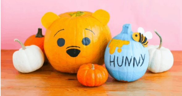 Adorable Winnie The Pooh And Hunny Pot Pumpkins DIY To Decorate Your Home!
