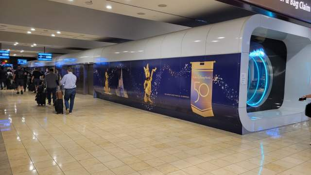 Disney World 50th Anniversary decorations are now at the Orlando Airport 1