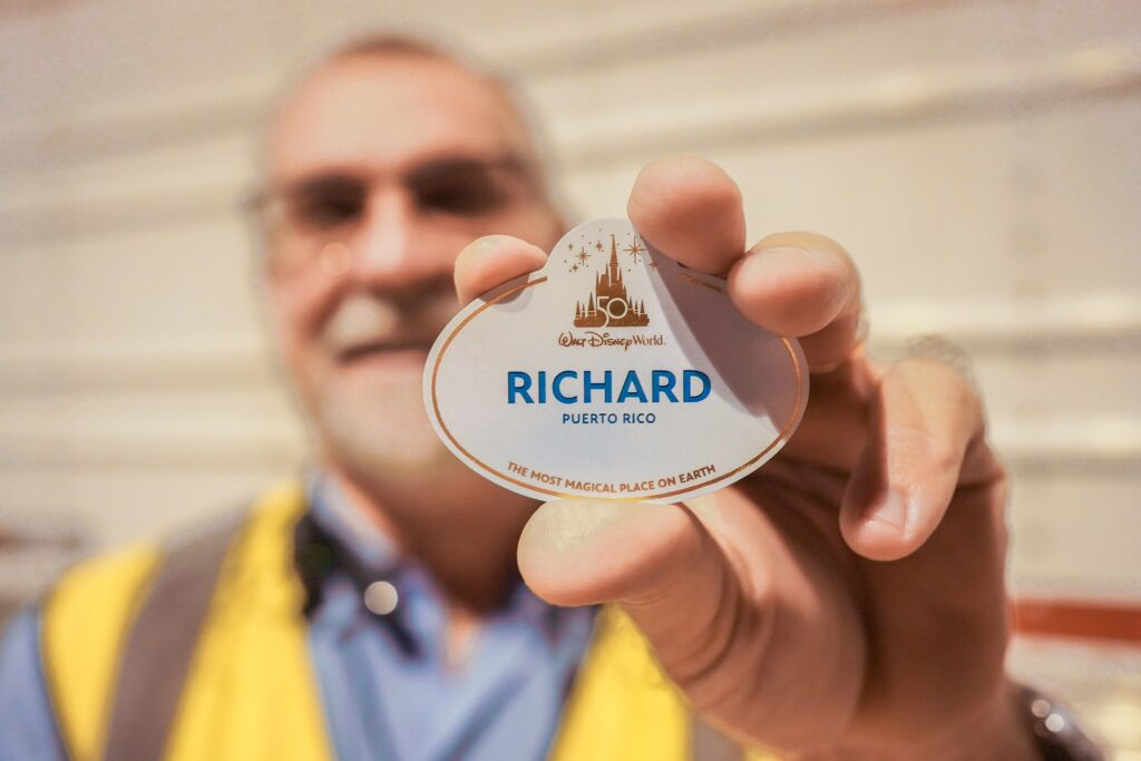 Disney World Cast Members receive new 50th Anniversary Name Badges 4
