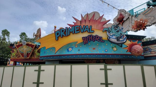 Walls Are Up Around Primeval Whirl in Disney's Animal Kingdom 4
