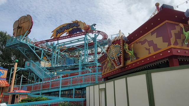 Walls Are Up Around Primeval Whirl in Disney's Animal Kingdom 1