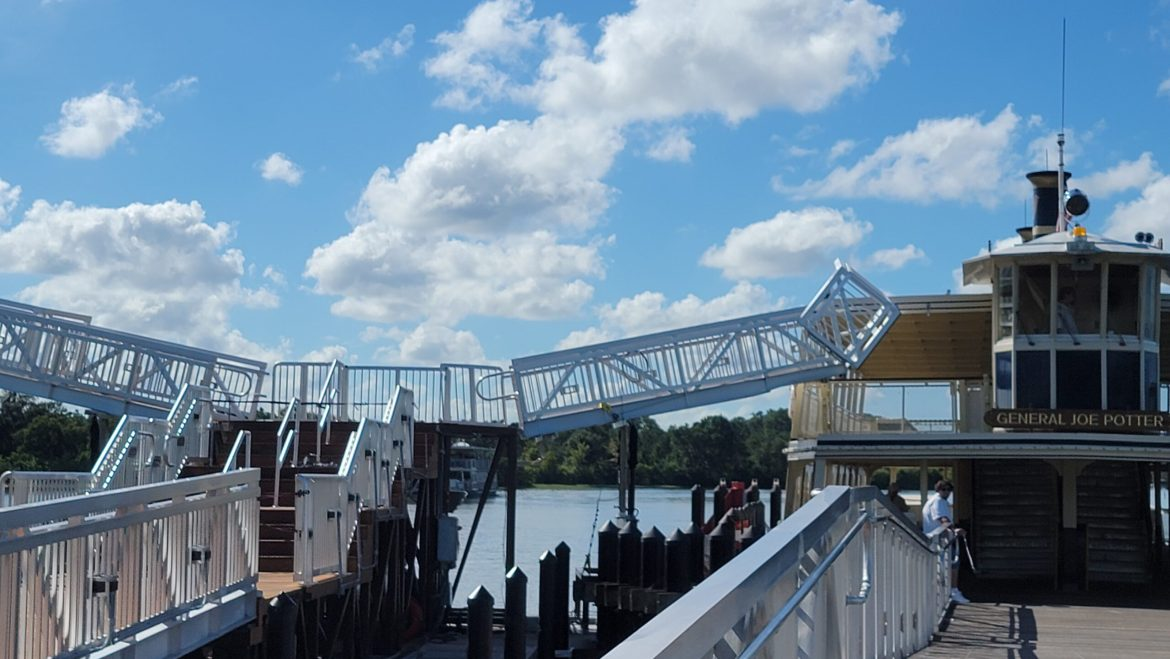 New 2nd Floor Ramps being built for Magic Kingdom Ferry