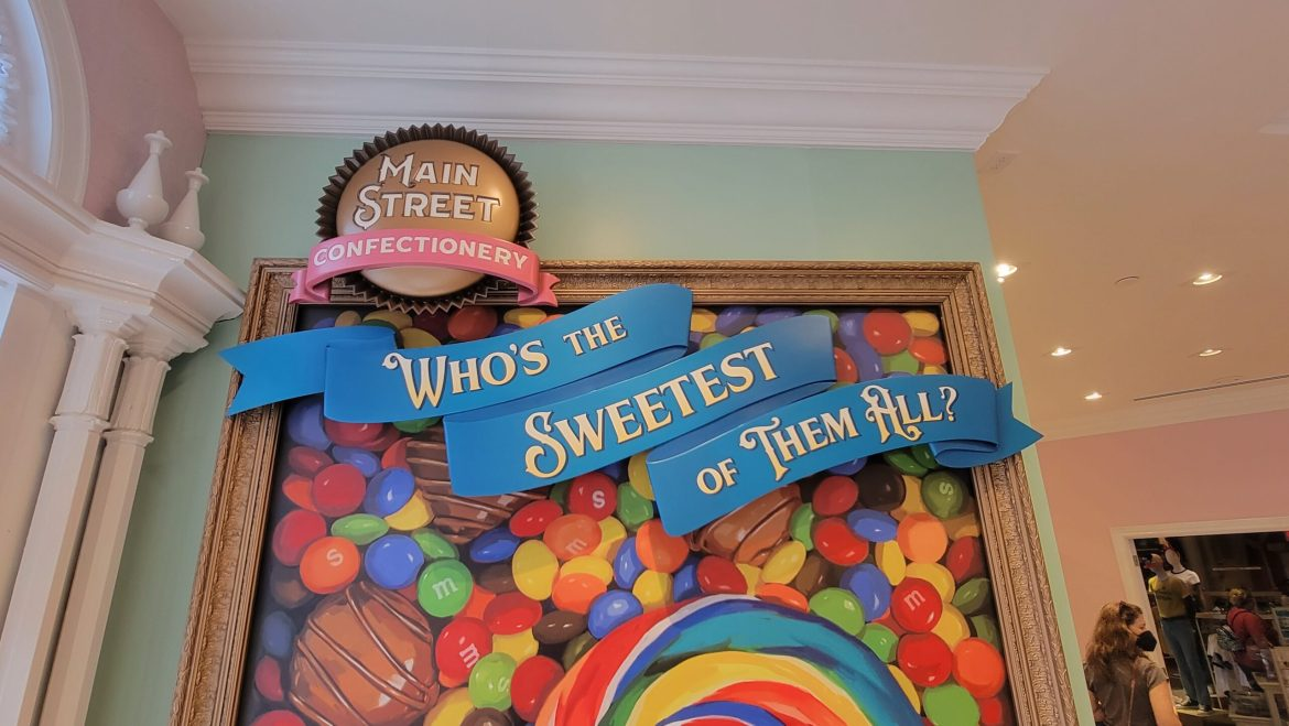 New Candy Selfie Wall inside Main Street Confectionery in Magic Kingdom