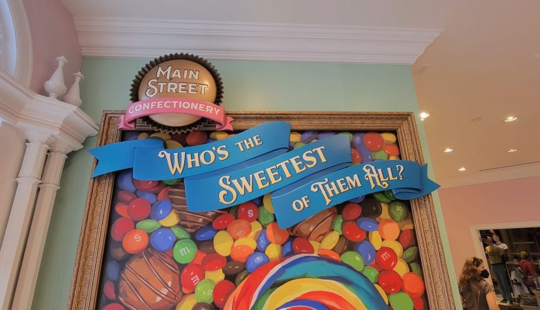 Candy Selfie Wall inside Main Street Confectionery