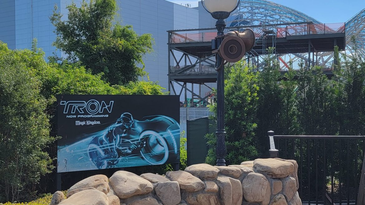 Construction update for Tron Lightcycle Run in the Magic Kingdom