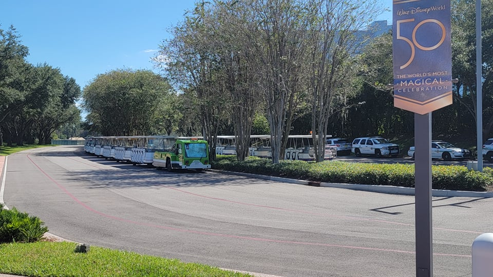 Parking Lot Trams are out in Epcot. Will they be returning to operations soon?